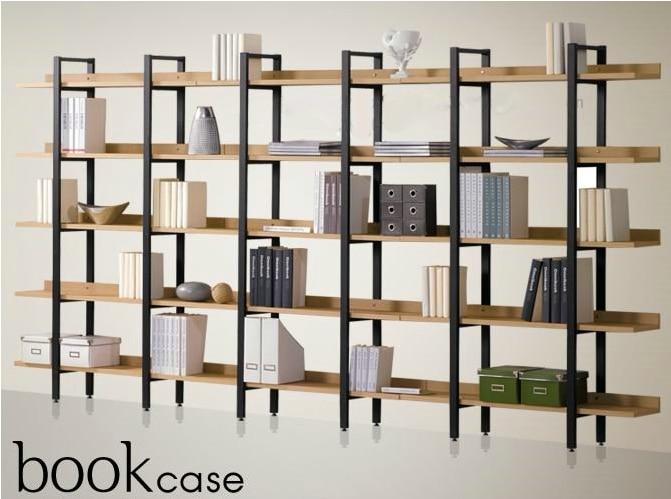 Cheap Iron wood shelf bookcase shelves display a