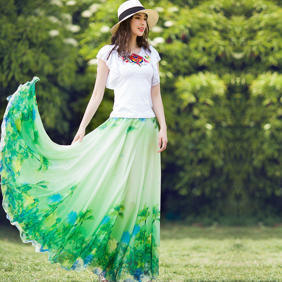 Aliexpress.com : Buy 2017 New fashion long summer skirts women's ...