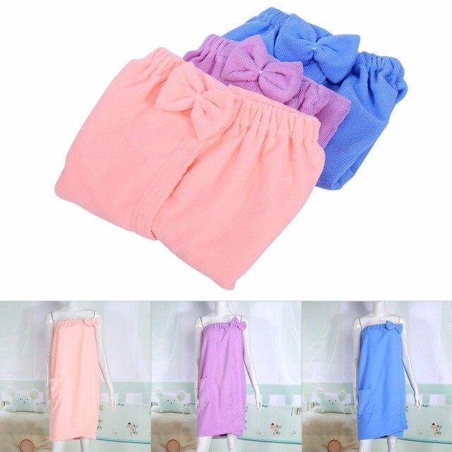 Donne Assorbente In Microfibra Wrap Bagno Asciugamano Versione Coreana Top Senza
