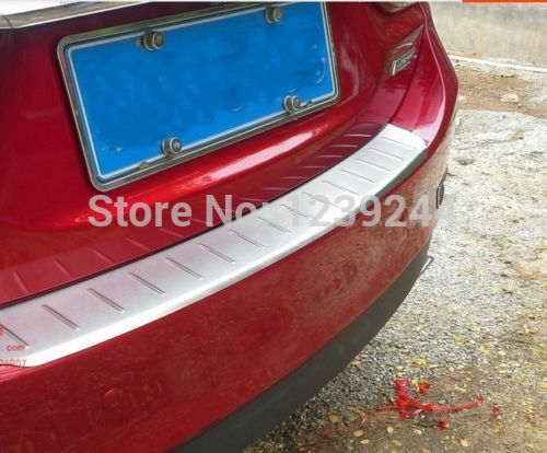S.Steel Rear Bumper Skid Plate Tailgate Cover Trim For Mazda 6 2013 2014 2015 3pcs abs chrome rear bumper molding cover trim for mazda 3 mazda3 axela 2014 2015