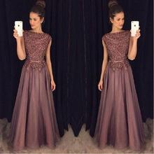 Luxury Crystal Beaded China Prom Dresses 2017 Vestido De Festa Girls Imported Party Dress A-Line Satin Evening Gowns Formal