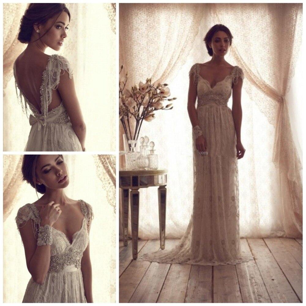 Ziemlich Anna Campbell Brautkleid Verwendet Bilder - Brautkleider ...