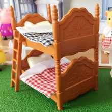 hot deal buy double beds suit for sylvanian family figures toy mini furniture pretend mini bedroom set mini living room furniture toy gift