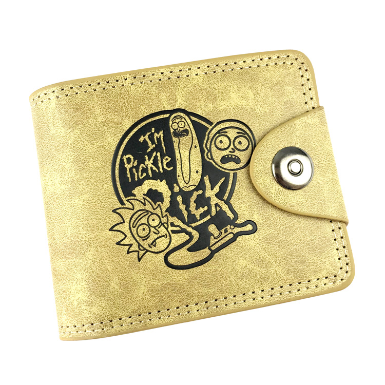 Anime Rick and Morty Boys Girls Students Pu Leather Small Purse Bi Fold Card Holder Coin Pocket Hasp Wallet Purses 2018 new arrivel anime cartoon rick and morty wallet pu leather bifold wallet id credit card holder purse funny gift w720q