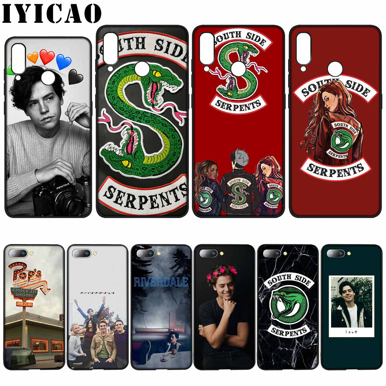 IYICAO Riverdale South Side Snake Cover love Soft Case for Huawei Y7 Y6 Prime Y9 2018 Honor 8C 8X 8 9 10 Lite 6A 7C 7X 7A Pro