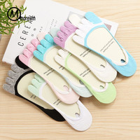 1Pair Boat Socks Women Low Cut Sock Non Slip Invisible Cotton Sock Slippers Summer Spring Candy