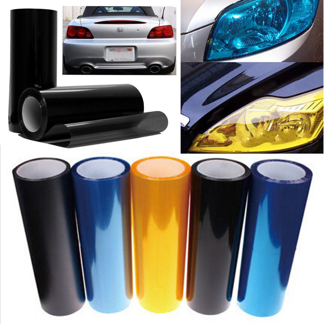Image 2 - New Arrival 1pc 30*60CM PVC Car Vehicle Headlight Tail Light Vinyl Film Wrap Sticker Decal 5 Colors-in Car Stickers from Automobiles & Motorcycles
