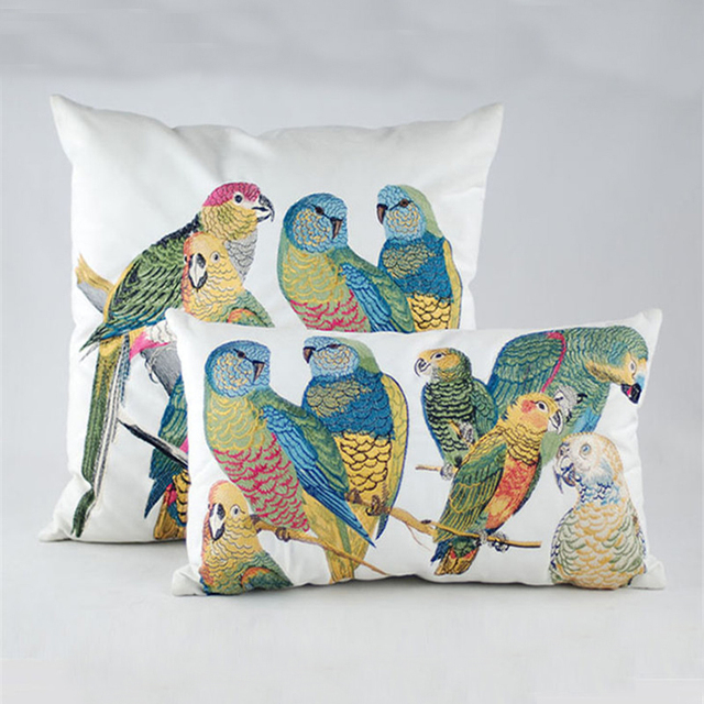 Cushion Cover Colorful Parrot Mawgie