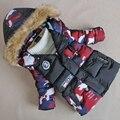 Alta qualidade 3-7Yrs Meninos Coreano Camuflagem inverno coats & Jacket crianças jaquetas Casuais Meninos grossas de Inverno jaqueta Menino Casaco de Inverno