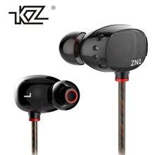 Best Buy Earphone KZ ZN1 Dul Drivers Super Bass In Ear Music Earphones With Mic dj HIFI Stereo fone de ouvido Headset Noise Isolating