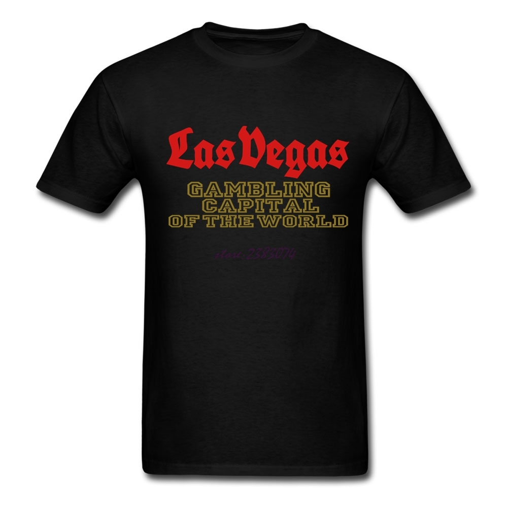 Design your own t shirt hong kong - Popular Teenage Cotton T Shirt Las Vegas Gambling Capital Of The World Men Short Sleeve Printed Shirts Man Design Your Own Tees