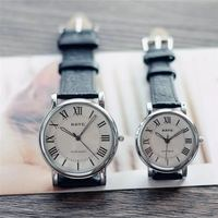 Fixed retro classic literary Roman numerals couples love table Fashion trend male and female students disc watches