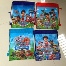 New various carton non-woven fabrics  of dog patrol, drawstring backpack, event & party gift bag, paws shopping bag,vest bag