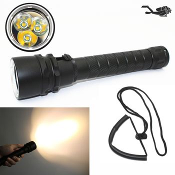 Yellow light Diving flashlight Waterproof dive light 3x T6 LED Underwater hunting torch Tactical 18650 lantern z20 new led flashlight 2000lm cree t6 led waterproof underwater scuba dive diving flashlight torch light lamp for diving light