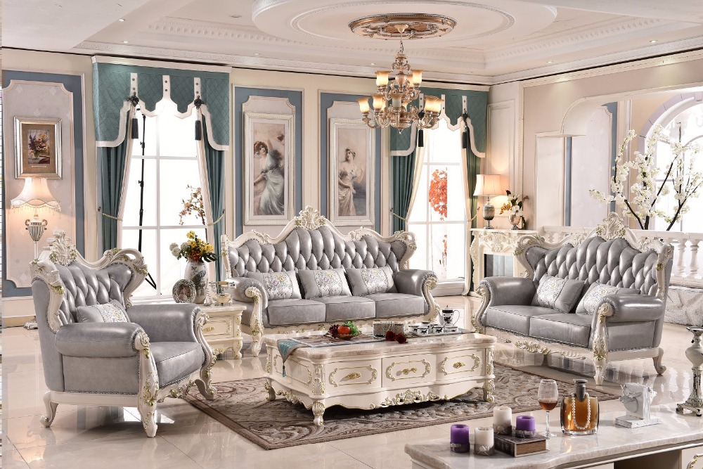 2017 Antique Limited Sofas For Living Room Bean Bag Chair Chaise Armchair Good Price Hot Selling Luxury French Leather Sofa