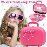 Children's Cosmetics Princess Makeup Box Set Safe Non-Toxic Girl Makeup Kit Box Eyeshadow Lipstick Palette Box Girls Beauty Toy