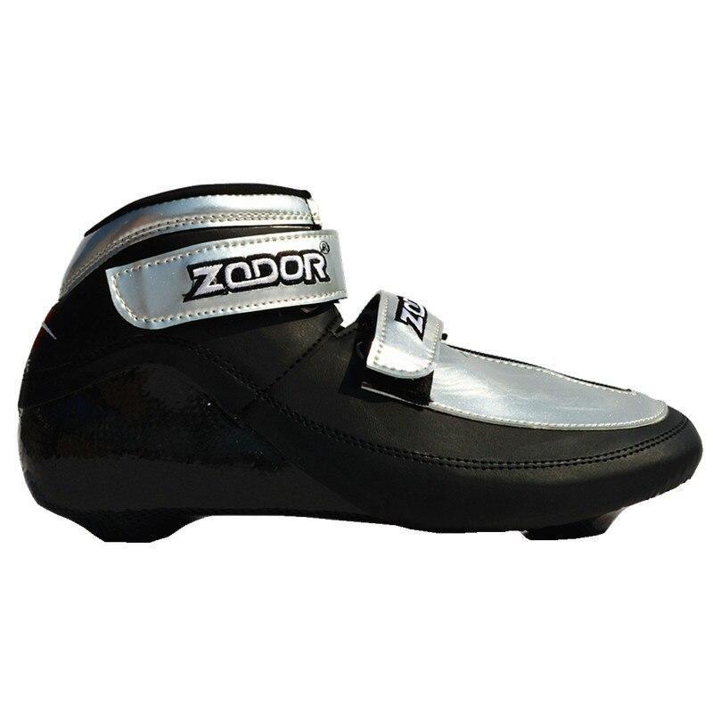[Chaussure supérieure courte piste] chaussures de patinage de vitesse en Fiber de carbone pour patins à glace professionnels en ligne EUR 33 à 46 imperméable à l'eau chaude