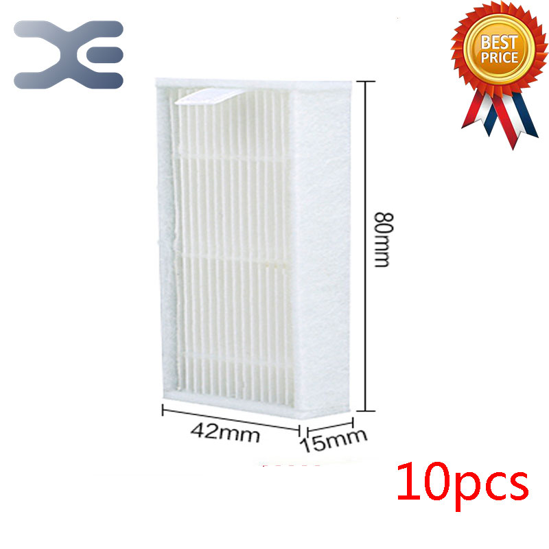 10 Pcs High Quality Vacuum Cleaner Parts Ecovacs CR120 Hepa Vacuum Cleaner Filter Dust Strainer