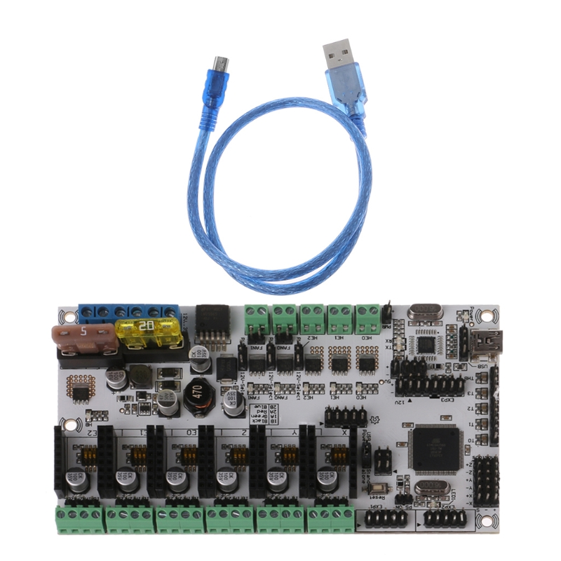 Rumba + All in One Board Control Card Rumba Board Integrated Motherboard 2560 3D Printer Part cjmcu all in one mwc flight control board atmega2560 mpu6050 hmc5883l ms5611 top version