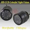 9 LED de Visión Trasera de Marcha Atrás Cámara de Reserva Flush Día Lámpara de Luz de Estacionamiento de Visión nocturna PAL NTSC Cámaras de Seguridad El Envío gratis