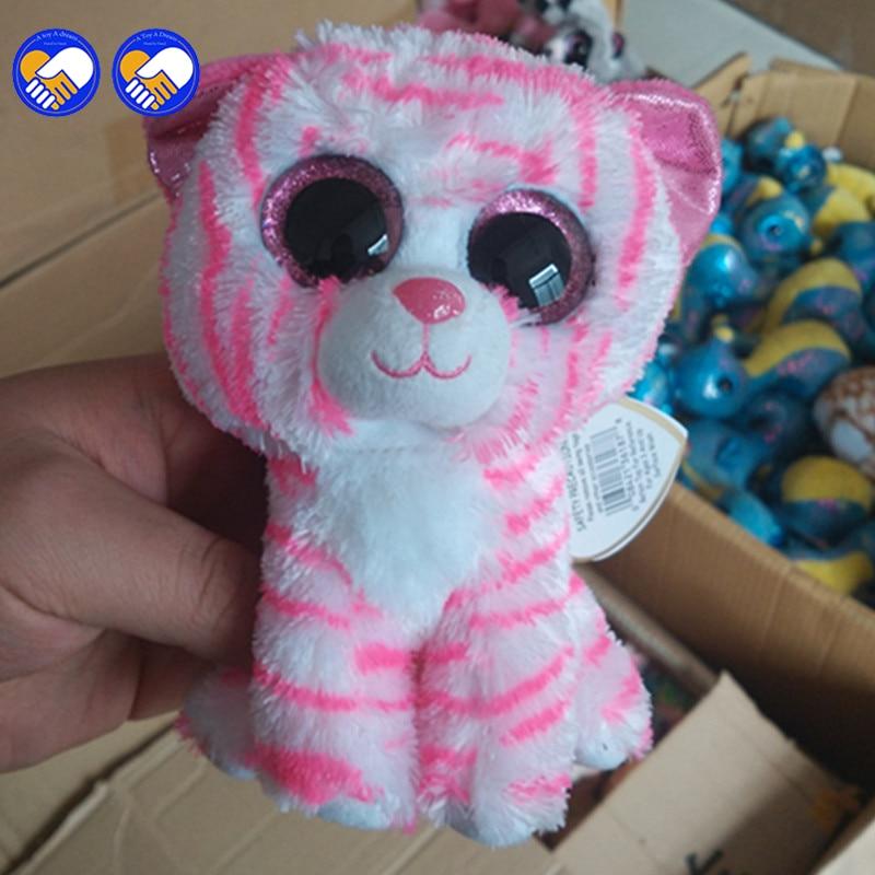 Игрушка мечта Ty Beanie Боос Розовый Полосатый тигр 6 дюймов большой Средства ухода для век шапочка Детские плюшевые игрушки куклы коллекционны...