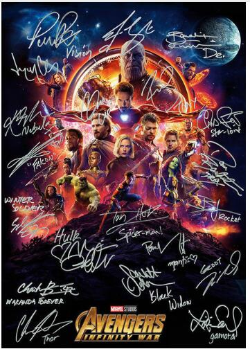 Avengers Infinity War Art SILK POSTER Decorative Wall Painting 24x36inch
