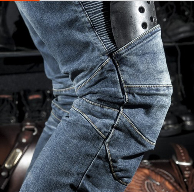 Classic KOMINE Motorcycle Jeans Drop Resistance Slim Denim Cycling Racing Pants Motocross Off-road Hockey Pants with Protector 2