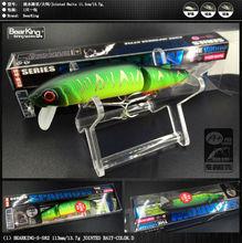 Retail 2016 good fishing lures minnow,quality professional baits 11.3cm/13.7g,bearking