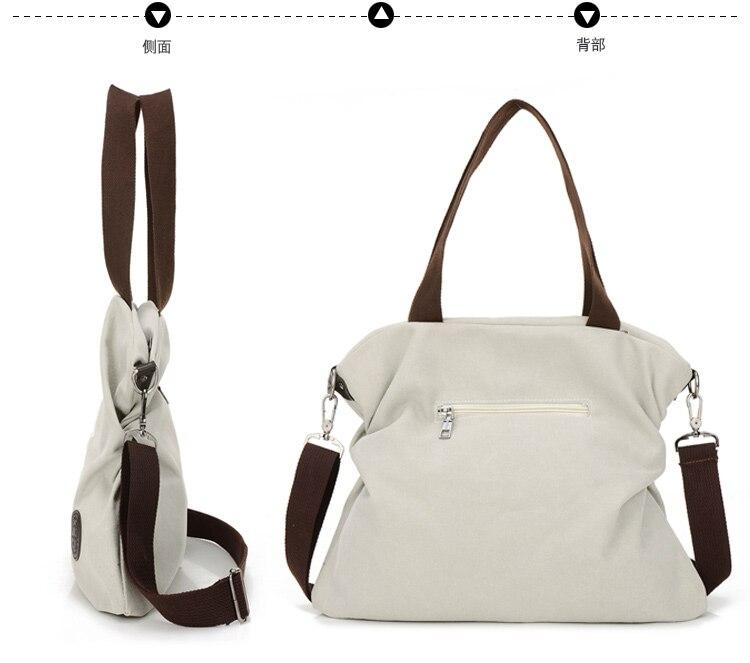 de bolsa de lona bolsa Material : Canvas And Little PU Leather