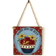 Vintage Wooden Hanging Plaque Happy 4th Of July Sign Board Wall Door Home Decoration Independence Day Party Gift цены