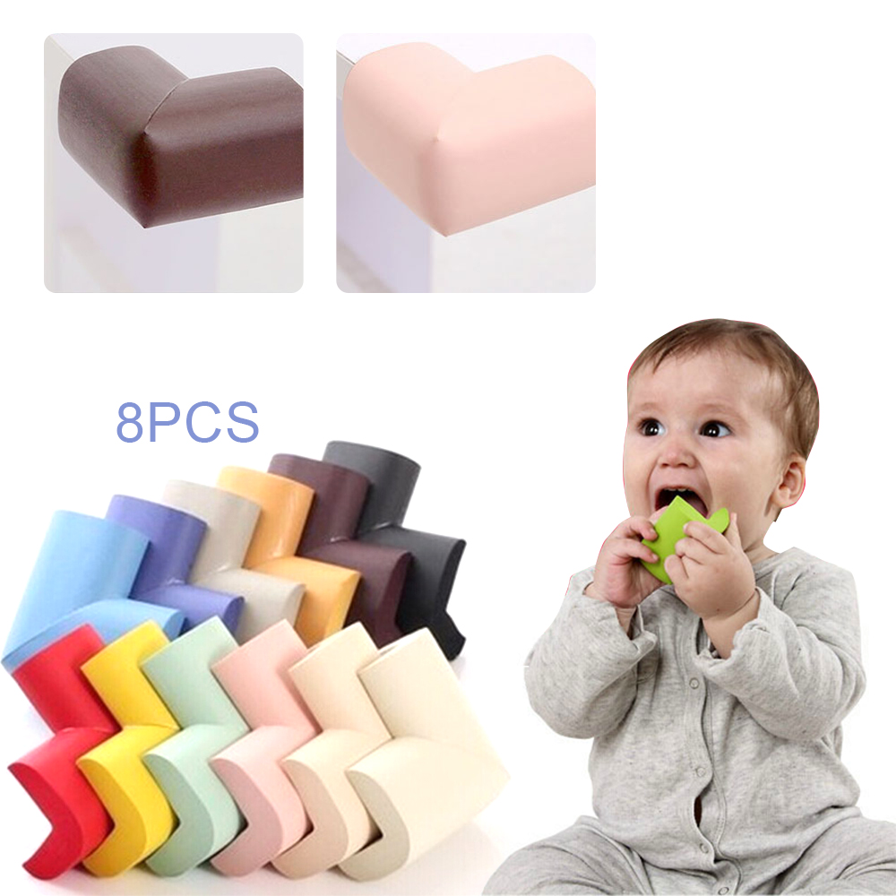 8 Pcs/Lot Children's Protection Corner Infant Soft Safety Edge Guards Protector Baby Kids Solid Right Angle Furniture Corner