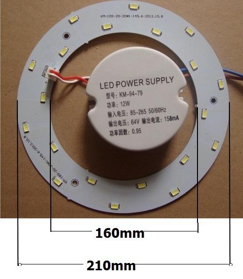 15 W 20 pcs SMD5730 leds 85-265 V ímã conduziu a luz de teto/ímã do diodo emissor de luz do painel