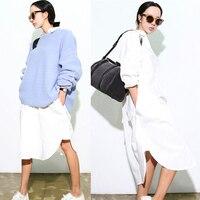 ที่ขายดีที่สุดในช่วงฤดูร้อนผู้หญิง: sผ้าฝ้ายขนาดใหญ่เสื้อT Opshopแฟชั่นสีขาวเสื้อ