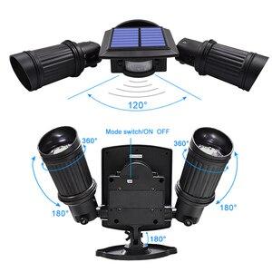 Image 2 - משודרג 600lm שמש מנורה חיצוני עמיד למים 10W תאורה מתכווננת זווית COB Led זרקור שמש עם חיישן תנועה