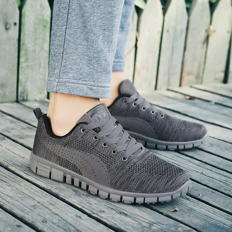 Caminhada Casuais gray Black Novos up Preguiçosos Confortável 2018 De Homens Lace Malha Leve Sapatos 5 Respirável Verão AxZzvanZ