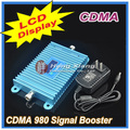 LCD Display !!! CDMA 850Mhz Mobile Phone CDMA 980 Signal Booster , Cell Phone CDMA Signal Repeater Amplifier +  Power Adapter