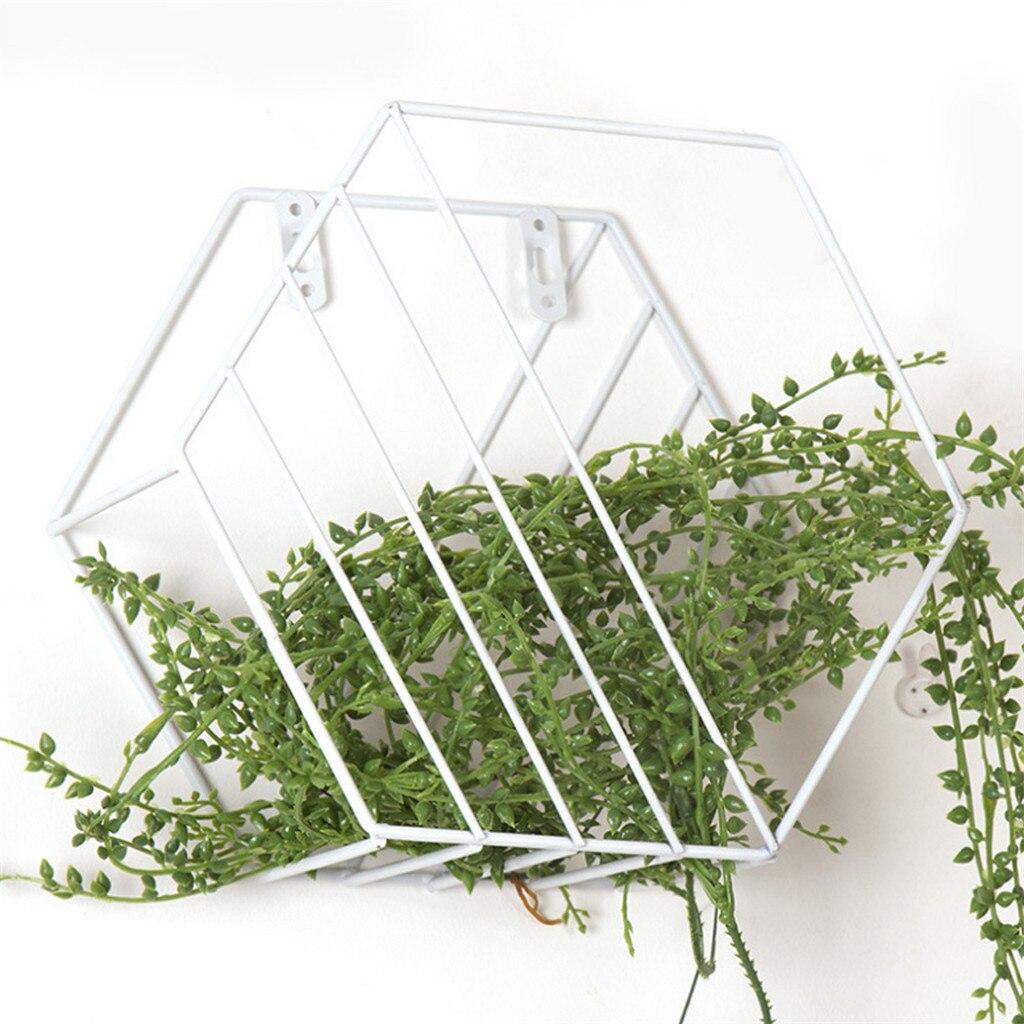 Ruimdenkende 2019 Muur Gemonteerde Geometrische Metalen Opslag Plank Eenvoudige Display Rack Voor Home Decor Geometrische Figuur Muur Home Decoratie Meer Comfort Voor De Mensen In Hun Dagelijks Leven