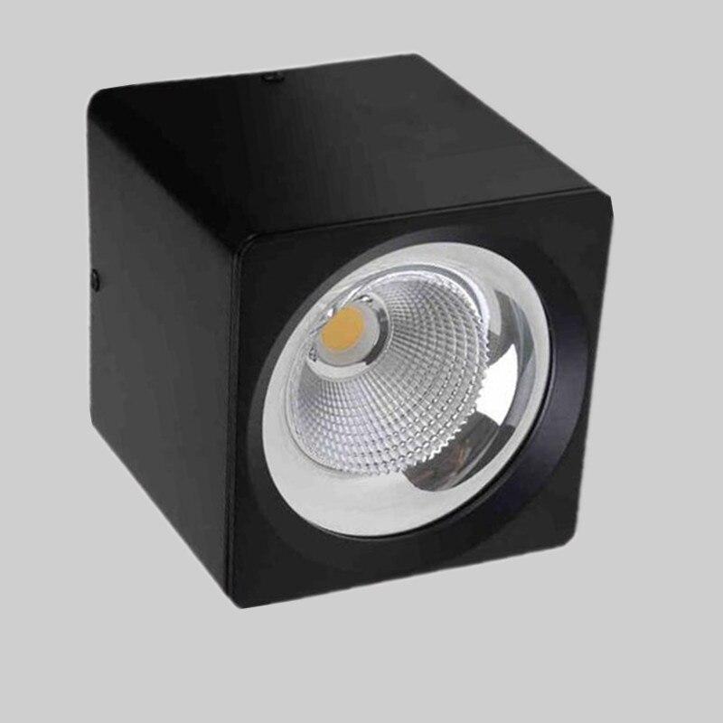 Carré/Rond Surface mount LED COB downlight Dimmable 5 W 7 W 10 W 15 W gradation LED Spot lumière LED plafond lampe AC110V-240V