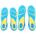 1 Pair L and S Size Orthotic Arch Support Massaging Silicone Anti-Slip Gel Soft Sport Insole Pad for Man and Women