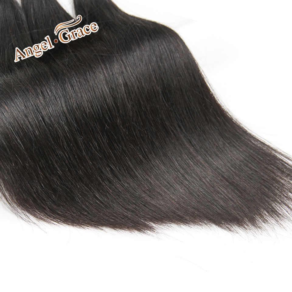 Angel Grace волосы бразильские прямые человеческие волосы 4 пучка предложения 100% Remy человеческие волосы пучки для наращивания 100 г/шт. Бесплатная доставка