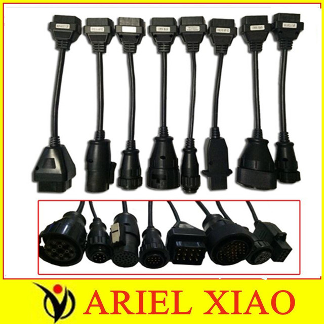 2013 best quality TCS scanner cdp pro plus truck cables full set 8 cables 5pcs/lot  in DHL  freeshipping