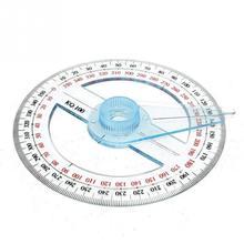 1 шт. портативный круговой 10 см пластик 360 градусов указатель линейка транспортира Угол Finder поворотный рычаг для школы офисные принадлежности