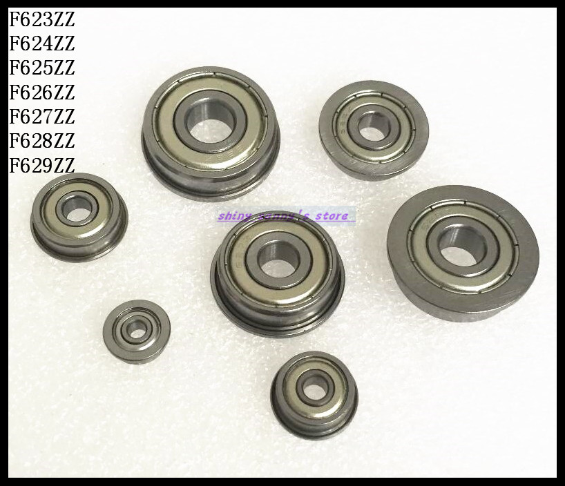 30pcs/Lot F623ZZ  F623 ZZ 3x10x4mm Flange Bearing Deep Groove Ball Radial Ball Bearing Brand New 5pcs lot f6002zz f6002 zz 15x32x9mm metal shielded flange deep groove ball bearing