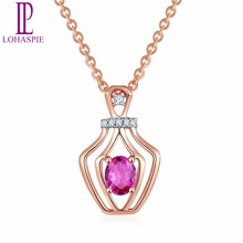 tiny diamond pendant necklace aliexpress lohaspie18 k mozeypictures Image collections