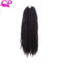 QP Hair Senegalese Twist 18 inch Black Braiding HairBraid Folded Kinky Twist