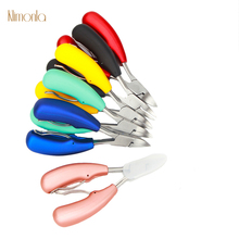 6 Colors Dead Skin Shear Stainless Steel Nail Art Tools For Manicure Care Plastic Handle Cuticle Remover Scissors Pliers все цены