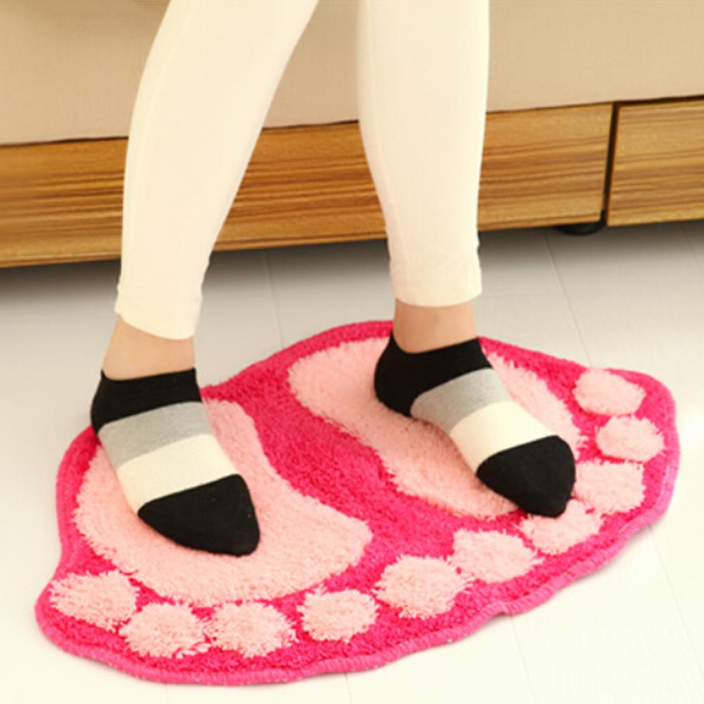 Permalink to Lovely Absorbent Slip-resistant Bath Mat Feet Shape Thickening Bathroom Carpet Floor Mat Sanitary Ware Suite