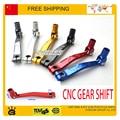 CNC Aluminium Gear Shift Lever XR CRF KLX TTR 50 70 100 Chinese Dirt Pit bikes 50-125 free shipping