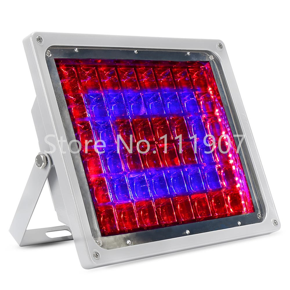 Full Spectrum 100W LED Flood Grow Light 32Red+16Blue Hydroponics Plant Lamp Best For Indoor Plants Growing & Flowering Wholesale 1pc led grow lights e27 15w 3 red 2 blue for flowering plant and hydroponics greenhouse led lamp full spectrum free shipping