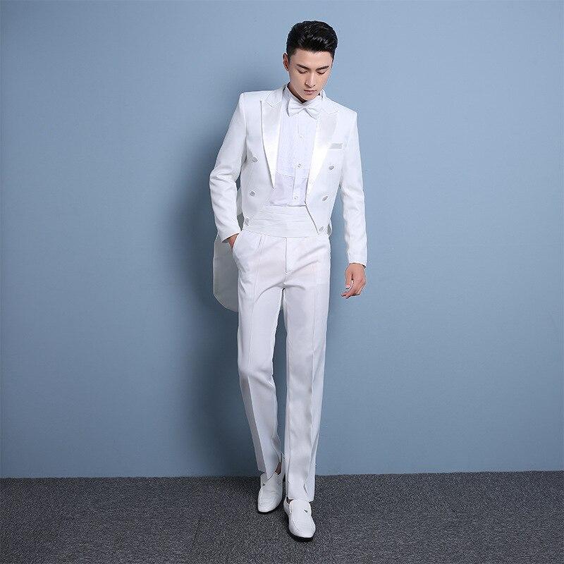De Mince D'étape Polyester Robe Costume Commandant 1 Mariage Marié Nouveau D'exécution Hôte Hommes 2 Smoking IdgxnSwqt